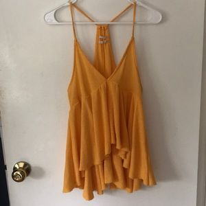 Urban yellow Lola babydoll top